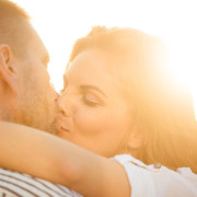Couple in love – kiss